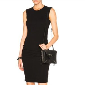 James Perse skinny ruched dress, size 0/xs